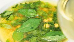 Суп из нута и салата