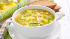Блюда постного меню: «Овощной суп со шпинатом»