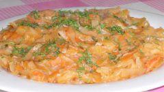 Тушёная капуста с картофелем