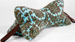 Как сшить подушку под шею