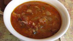 Суп «Бычьи хвосты с красной фасолью»