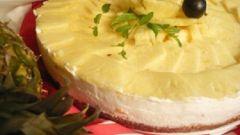 Торт из йогурта и ананаса