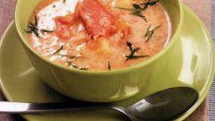 Суп из копченой рыбы с кукурузой по-гречески
