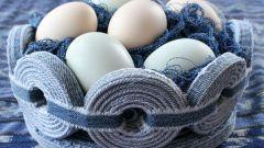 Как сделать корзинку для пасхальных яиц из джинсов