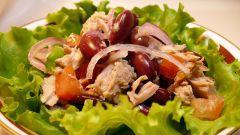 Салат фасолевый с орехами
