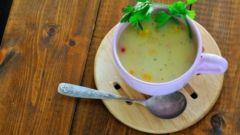Молочный суп из трески с сельдереем
