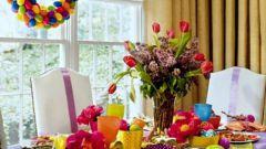Праздничное украшение стола к Пасхе