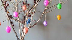 Как сделать пасхальное дерево с пожеланиями