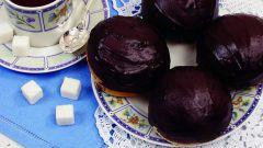 Булочки с шоколадной помадкой