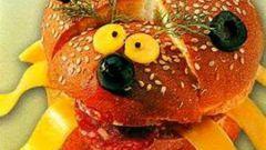 Бутерброд Божья коровка для ребенка