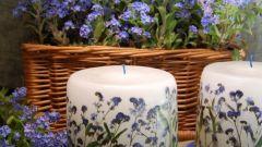 Декупаж свечи в цветочном стиле