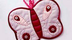 Дизайнерская прихватка «Бабочка»