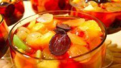 Чайное желе с фруктовым наполнением