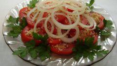 Как приготовить салат из помидоров с орешками