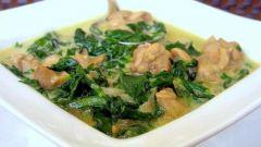 """Chicken Sagwala - индийское ресторанное блюдо """"Курочка в шпинате"""""""