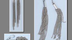 Как сделать  серьги из цепочки