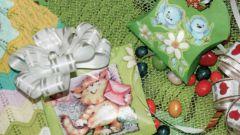 Как сделать красивый бант и подарочную коробочку