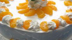 Как приготовить мандариновый торт со взбитыми сливками