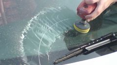 Get rid of scratches on car glass