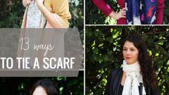 13 способов завязать шарф