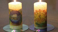Как декорировать свечу