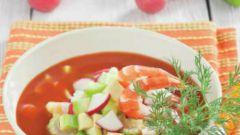 Окрошка на томатном соке