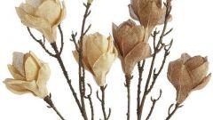 Как сделать цветы из мешковины