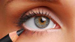 Как сделать круглый глаз продолговатым при помощи подводки