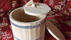 Как изготовить кадку для соления