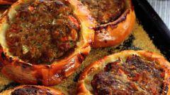 Арабский открытый пирог с мясом