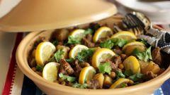 Марокканская кухня: тажин с курицей, маслинами и лимонами