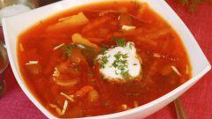 Арабский томатный суп с фасолью