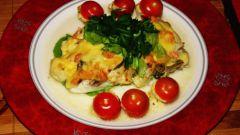 Филе судака, запеченное в духовке под шубкой