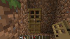 Как сделать дверь в Minecraft