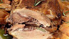 Свиной окорок в ржаном тесте