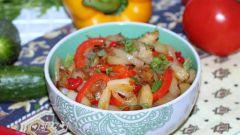 Картофель по-китайски с перцем