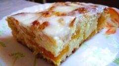 Пирог «Персиковое наслаждение» в сметанной заливке