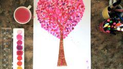 Как нарисовать дерево кончиками пальцев