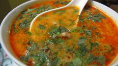 Кокосовый суп с шампиньонами и рисом