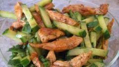 Летний куриный салат