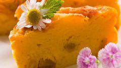 Пирог цитрусовый с тыквой и ромом