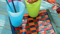 Как сделать плетеную салфетку из листьев