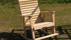 Как сделать кресло-качалку для дачи