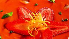 Гаспачо: рецепт с клубникой