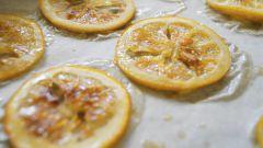Лимонные чипсы в карамели