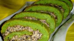 """Как приготовить закусочный рулет """"Зеленый"""""""