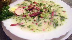 Как приготовить мясную окрошку с редисом