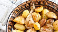 Курица с айвой, имбирем и шафраном