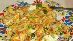 Скумбрия, копченая с двумя видами риса