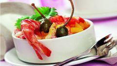 Креветочный салат по-креольски